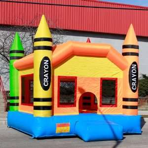 Crayon Inflatable Bounce House Jumping Bouncer Commercial