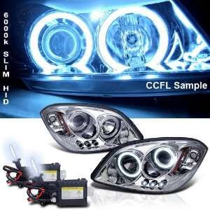 Eautolight 6000k Slim Xenon HID Kit+05 10 Chevy Cobalt Ccfl Halo LED
