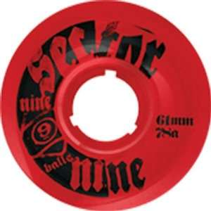 Sector 9 Topshelf 78a 61mm Clear Red Skateboard Wheels