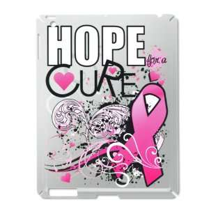 iPad 2 Case Silver of Cancer Hope for a Cure   Pink Ribbon
