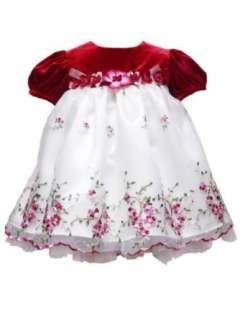 Rare Editions Baby Baby Girls Infant Velvet Embroidered