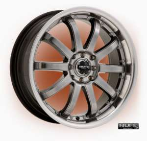 17 x7 Ruff Racing R390 HyperBlack Wheels Rims