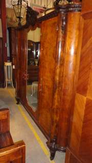 Art Deco Burl Walnut Armoire