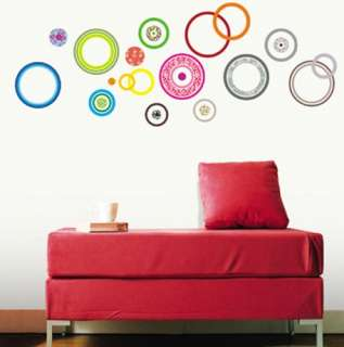decor accents self adhesive wall sticker color circle kr 0018