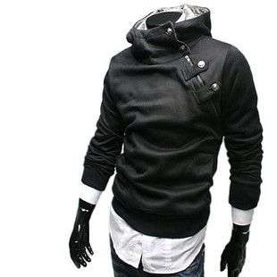 2011 Mens Slim Fit hoody Jacket Coat Sweatshirt 0804