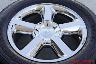 Factory Chevy Tahoe LTZ Silverado 20 OEM Chrome Wheels &Tires GMC
