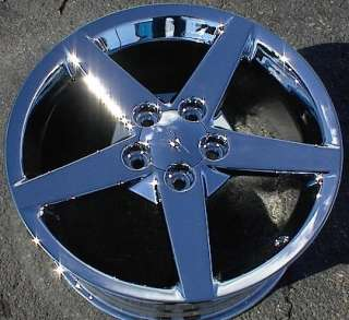 18 & 19 CHEVY CORVETTE CHROME ALLOY WHEELS RIMS C6 Z51