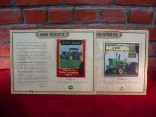 Large JOHN DEERE Farm TRACTOR Fabric PATCHES on DESCRIPTIVE CARDS
