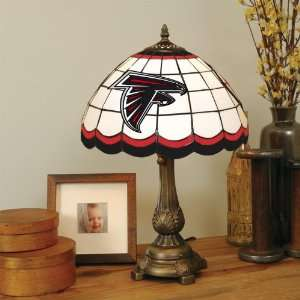 Glass TIFFANY TABLE LAMP with a Cast Metal Base