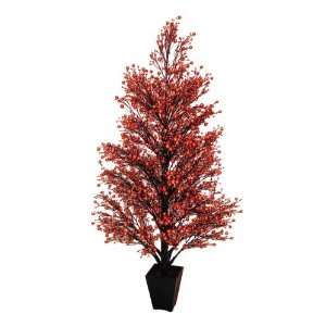 Red & Black Glittered Berry Christmas Tree #XBZ727 RE