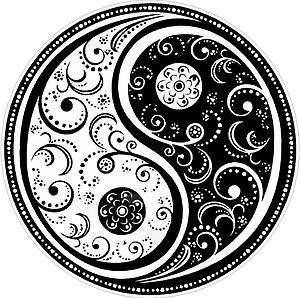 YIN YANG color vinyl decals stickers bumper C(277)V