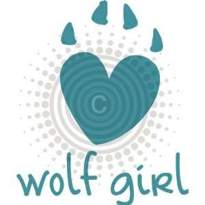 Wolf Girl Pawprint Vinyl Decal
