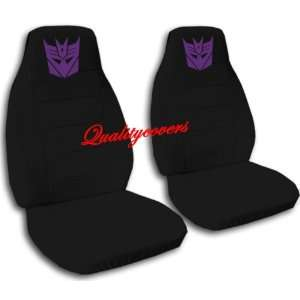 Black Robot seat covers. 40/20/40 seat covers for a Ford F 150