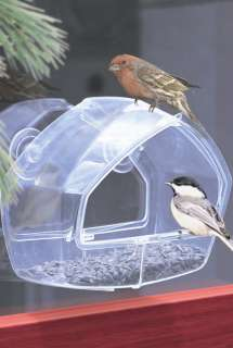 PERKY PET 348 BIRDSCAPES WINDOW BIRD FEEDER CLEAR ACRYLIC WINDOW