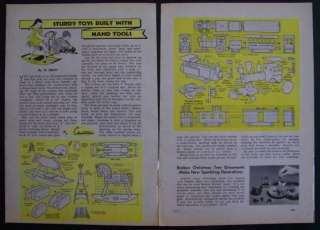Wooden ROCKING HORSE & Toy Train 1944 HowTo build PLANS