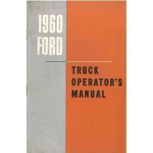 1960 FORD TRUCK Full Line Owners Manual User Guide Automotive