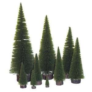 Green Artificial Village Christmas Trees 20   Unlit