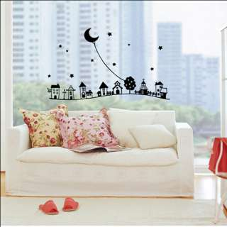 DREAM VILLAGE   Window & Wall Decor Vinyl Decal Sticker