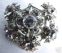 Vintage Rhinestone Bouquet Brooch, Brilliant 1950s
