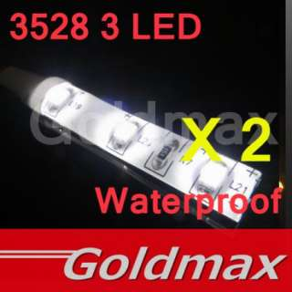 3528 3 LED white flexible Strip Light Led lamp Car Auto 12V x2