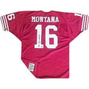 Joe Montana Autographed Red Custom Jersey