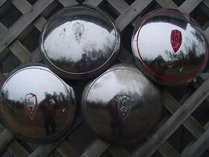 1946 1947 OLDSMOBILE DOGDISH HUBCAPS WHEEL COVERS CENTER CAPS ANTIQUE