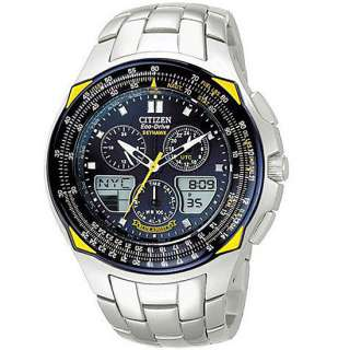 51L Citizen Eco Drive Blue Angels Skyhawk Mens Chronograph Watch