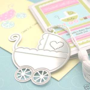 25)Baby Carriage Bookmark Shower Favors Announcements