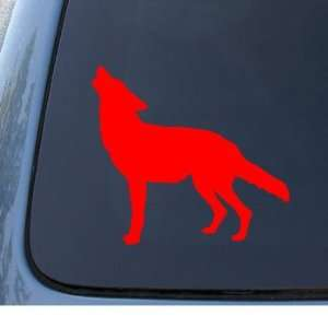 WOLF SILHOUETTE   Howling   Car, Truck, Notebook, Vinyl Decal Sticker