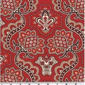 45 Wide Alexander Henry Bandana Red Fabric By The Yard