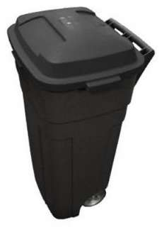 34 Gallon Heavy Duty Wheeled Black Trash Can/Cart 071691409359