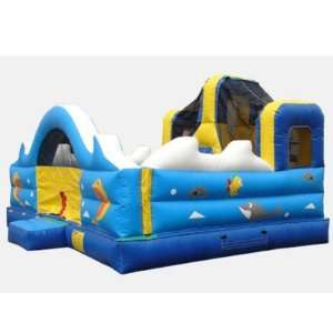 Kidwise Ocean Toddler Game Bounce House (Commercial Grade