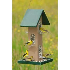 Tube Bird Feeder w/seed Tray (Holds 4 qts.of seed)   Hunter Green