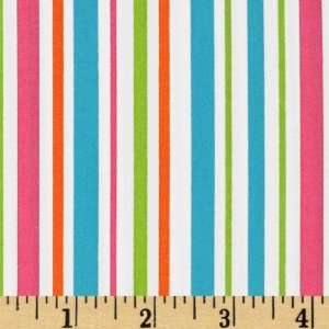44 Wide Pimatex Basics Various Stripe Tropical Fabric By