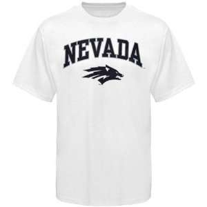 Nevada Wolf Pack Youth White Bare Essentials T shirt