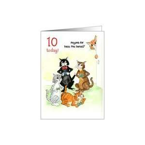 Card for 10 yr old   Cats Playing Video Game Card Toys & Games