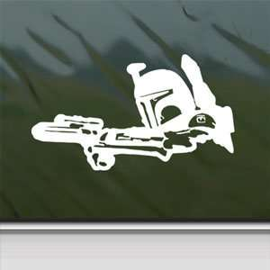STAR WARS White Sticker BOBA FETT BOUNTY HUNTER Laptop