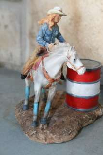 Barrel Racing Cowgirl Horse Saddle Lasso Western Art