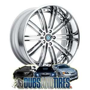 20 Inch 20x9 Beyern wheels BAROQUE Chrome wheels rims