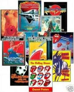 The Rolling Stones Concert Posters Trading Card Set