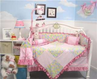 Chenille Baby Crib Nursery Bedding 13 pcs Set With Diaper Bag