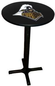 Purdue NCAA Licensed Laminated Bar Pub Table with Black Trim, NEW