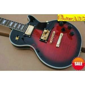 whole   custom black & wine red guitar les custom vos