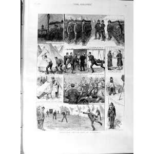 1887 Volunteer Soldiers Camp Aldershot War Cricket