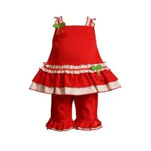 Bonnie Jean   Bonnie Baby Infant Girls 12M 24M 2 Piece RED