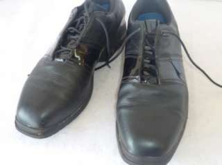 Mens Nike Tiger Woods Black Leather Golf Shoes 11 M