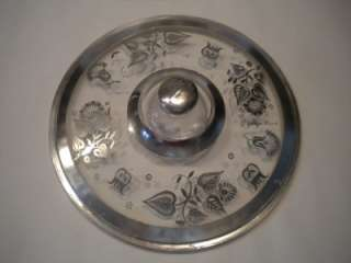 George Briard Vtg Fire King Covered Glass Casserole Silver Dish Bowl 2