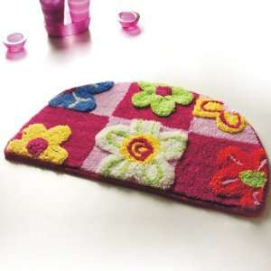 Naomi   [Red / Pink Flowers] Kids Room Rugs (15.7 by 24.8