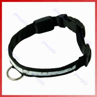 Nylon LED Flashing Light Pet Dog Cat Safety Collar New