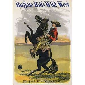 BUFFALLO BILLS WILD WEST HORSE HORSEBACK COW BOYS RIDING